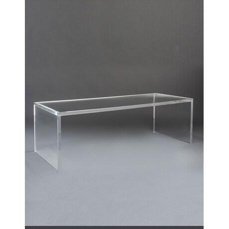 Delicieux Boda Acrylic U0026#x27;Cu0026#x27; Rectangular Coffee Table Without Shelf