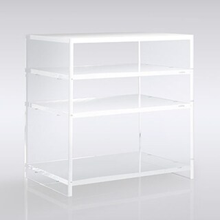 Boda Clear Acrylic Bedside Table with 3 Shelves