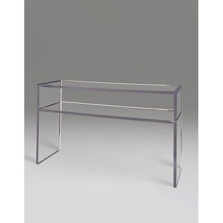 Boda Clear Acrylic Square-edge Console with Shelf