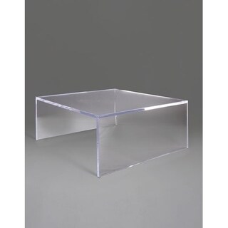 Boda C Clear Acrylic Square-edge Coffee Table without Shelf