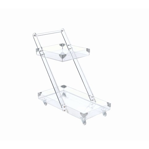 Oliver & James Raja Clear Acrylic Serving Cart