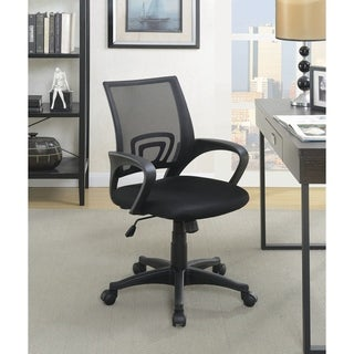 """Contemporary Black Mesh Back Office Chair - 24.50"""" x 24.50"""" x 34.50"""""""