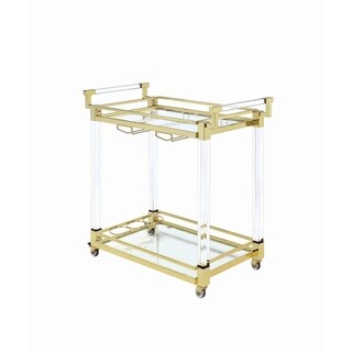 Modern Clear Glass Serving Cart