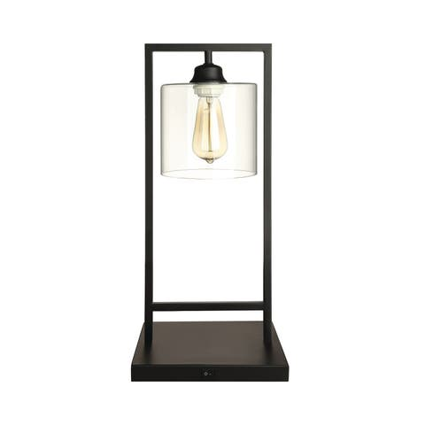"""Transitional Black Table Lamp - 12"""" x 12"""" x 22"""""""