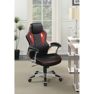 Contemporary Black and Red High Back Office Chair