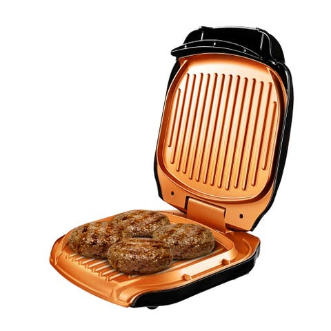 Gotham Steel Non-stick Copper Electric Sandwich Folding Grill