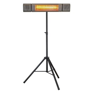 Hercules Waterproof 1500w Outdoor Heater with Bluetooth Speaker & Stand