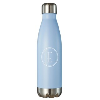 Visol Marina Insulated 16 oz Water Bottle - Pastel Blue With Initial