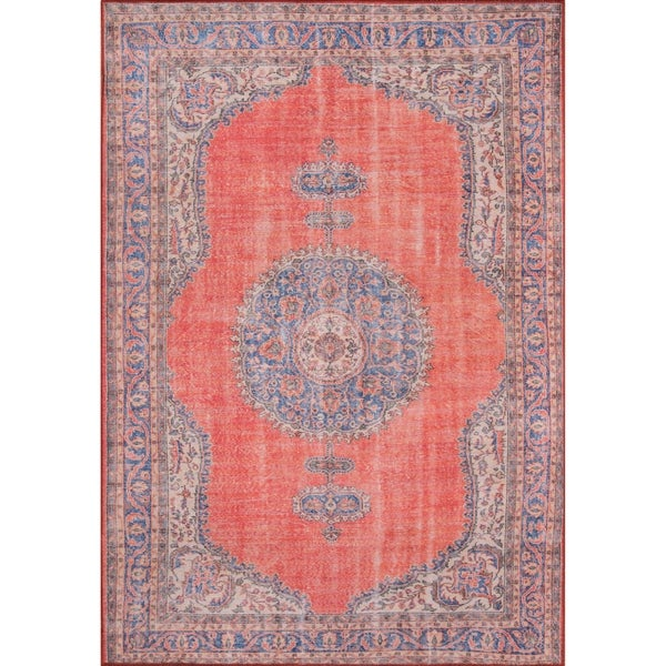 Momeni Afshar Machine Made Polyester Red Area Rug 8 X27 5 X