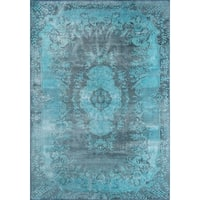 "Momeni Afshar Machine Made Polyester Blue Area Rug - 8'5"" x 12'"