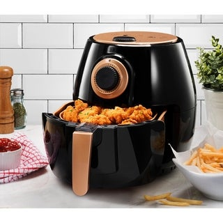 Gotham Steel Air Fryer XL 4 qt. Rapid Air Technology, Oil Free Healthy Cooking, Adjustable Temperature Control with Auto Shutoff