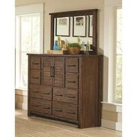 Sutter Creek Vintage Bourbon 8-drawer Dresser with Two Doors