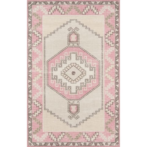 Momeni Anatolia Wool Blend Traditional Medallion Area Rug