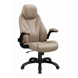 Contemporary Khaki High-back Office Chair