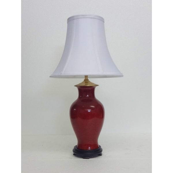 Specked Oxblood Porcelain Table Lamp