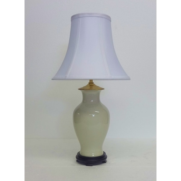 Cream Crackle Porcelain Table Lamp