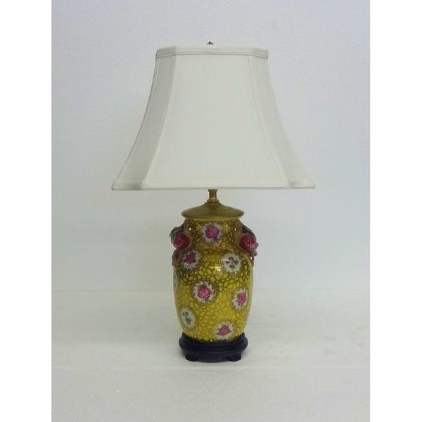 Imperial Pink Roses Porcelain Lamp