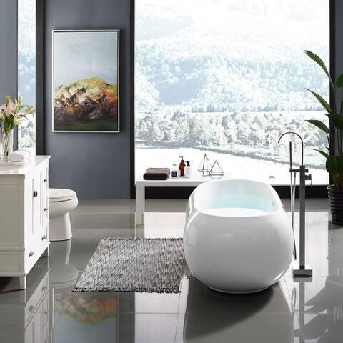 Swiss Madison Plaisir® Acrylic Freestanding Bathtub