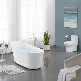 Swiss Madison Sublime® Acrylic Single Slipper Flatbottom Freestanding Soaking Bathtub
