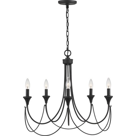 Quoizel Swanville 5-light 25-inch Wide Candle Chandelier