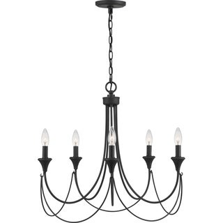 Quoizel Swanville 5-light 25-inch Wide Candle Chandelier - Thumbnail 0