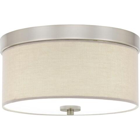 Porch & Den Deanwood Meade 2-light 13-inch Drum Flush Mount Light