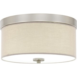Porch & Den Deanwood Meade 2-light 13-inch Drum Flush Mount Light