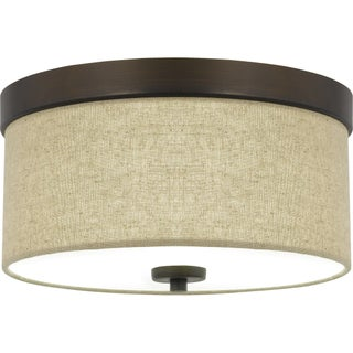 Quoizel Heather 2-light 13-inch Wide Drum Flush Mount (2 options available)