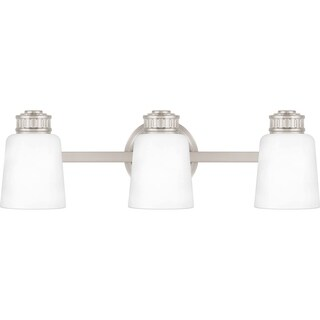 Quoizel Coller Etched Glass 3-light 22.5-inch Bathroom Vanity Light