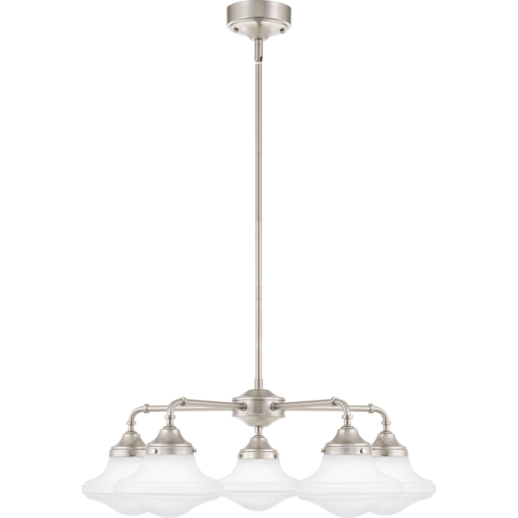 Quoizel Academy Opal Etched Glass 5-light 28-inch Wide Chandelier