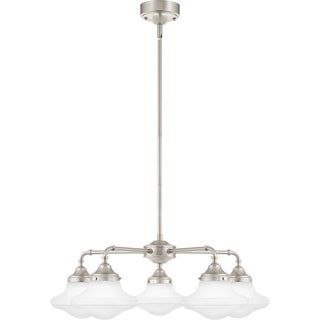 Quoizel Academy Opal Etched Glass 5-light 28-inch Wide Chandelier - Thumbnail 0