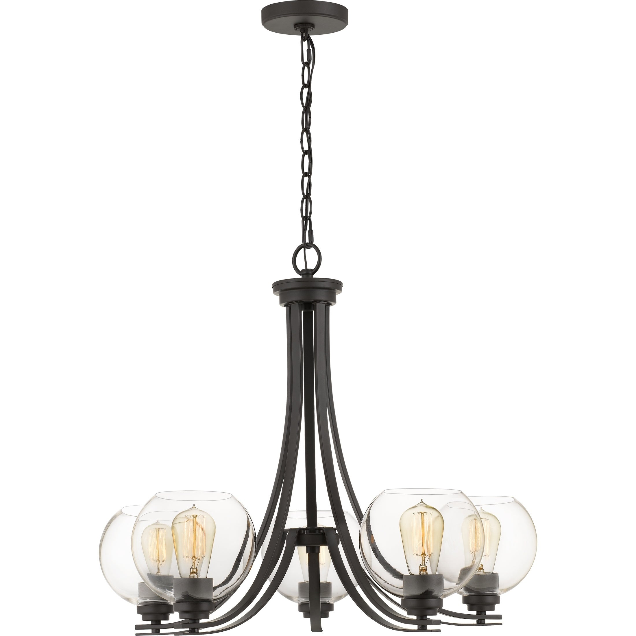 Quoizel Gallant Clear Glass 5-light 26.5-inch Wide Chandelier