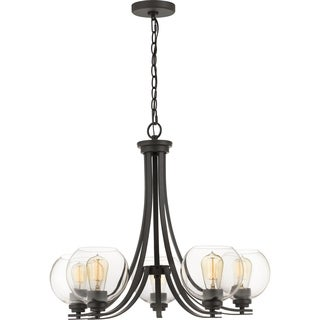 Quoizel Gallant Clear Glass 5-light 26.5-inch Wide Chandelier - Thumbnail 0
