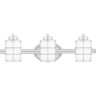 Havenside Home Eureka Opal Etched Glass 3-light Bathroom Vanity Light
