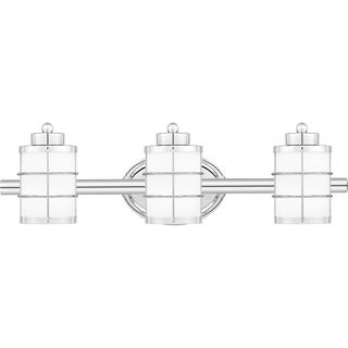 Quoizel Underhill Opal Etched Glass 3-light Bathroom Vanity Light