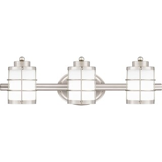 Quoizel Underhill Opal Etched Glass 3-light Bathroom Vanity Light (2 options available)