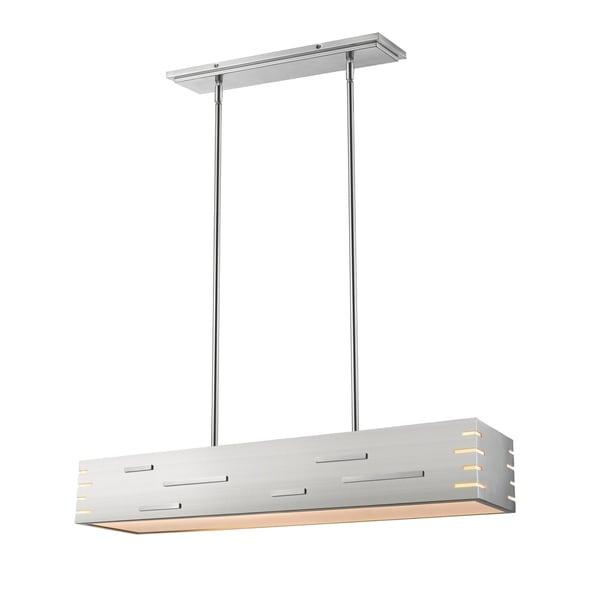 Avery Home Lighting Loek Brushed Nickel 1-light Chandelier - Silver