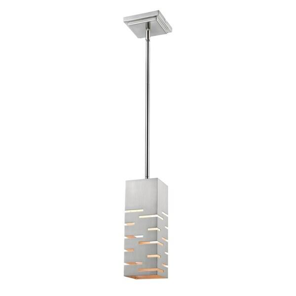 Avery Home Lighting Loek Brushed Nickel 1-light Mini Pendant - Silver