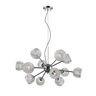 Avery Home Lighting Laurentian Chrome 12-light Pendant