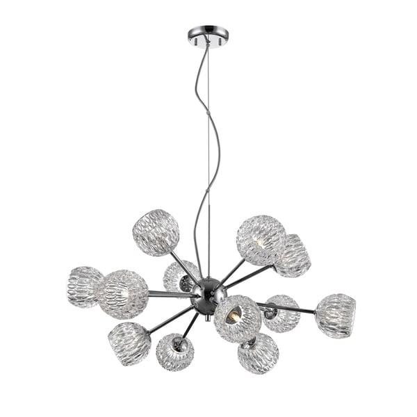 Avery Home Lighting Laurentian Chrome 12-light Pendant