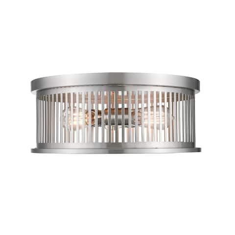 Avery Home Lighting Camellia 3-light Round Flush Mount