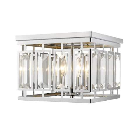 Avery Home Lighting Mersesse Chrome 4-light Flush Mount