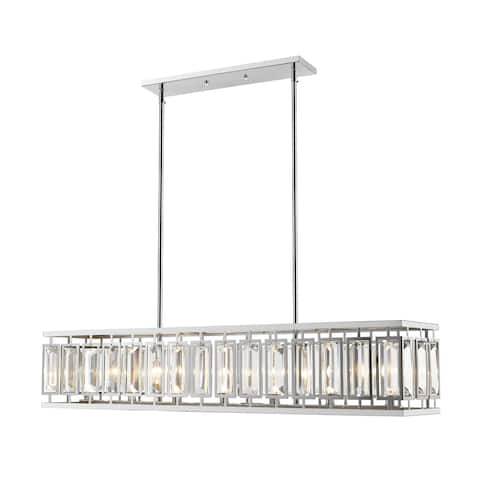 "Avery Home Lighting Mersesse Chrome 7-light Pendant - Clear - 47"" x 12"" x 15"""