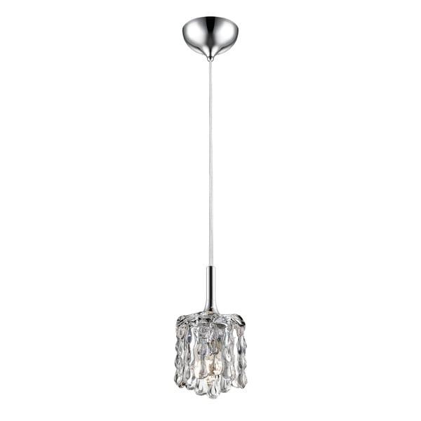 Avery Home Lighting Tempest Chrome 1-light Mini Pendant - Clear