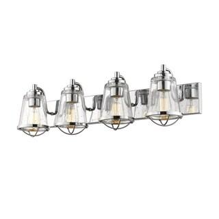 Avery Home Lighting Mariner Chrome 4-light Vanity
