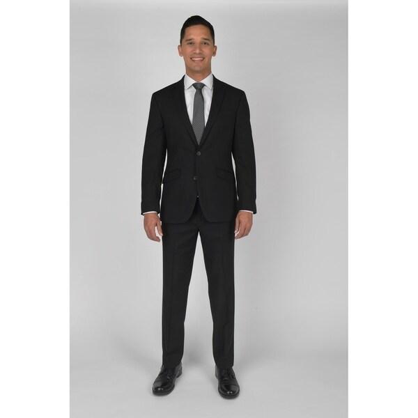"KC Technicole Black Suit with 32"" inseam. Opens flyout."