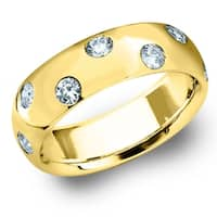 Amore 10K Yellow Gold 0.50 CTTW Etoile Diamond Ring