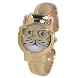 Olivia Pratt Women's Cat-in-Glasses Bangle Watch - N/A