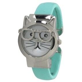Olivia Pratt Women's Cat-in-Glasses Bangle Watch