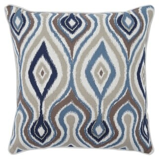 Russell Blue Abstract Throw Pillow